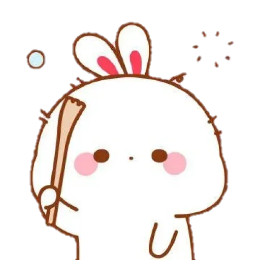 Cute Rabbit - @CelebritiesMood - Sticker 21