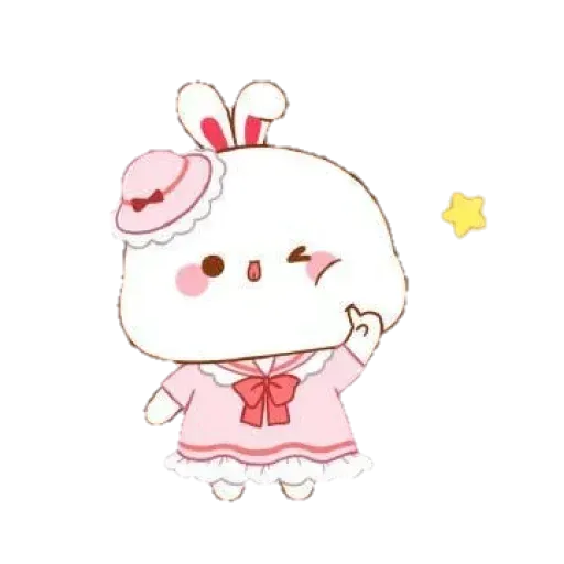 Cute Rabbit - @CelebritiesMood - Sticker 1