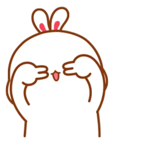 Cute Rabbit - @CelebritiesMood - Sticker 2