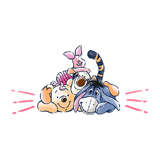 pooh 2 - Tray Sticker