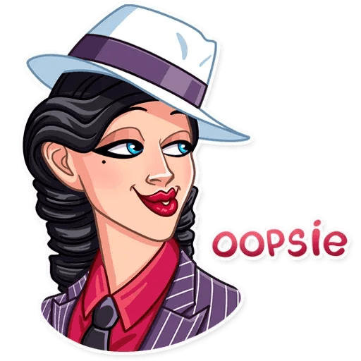 Mafia Girl - Sticker 25