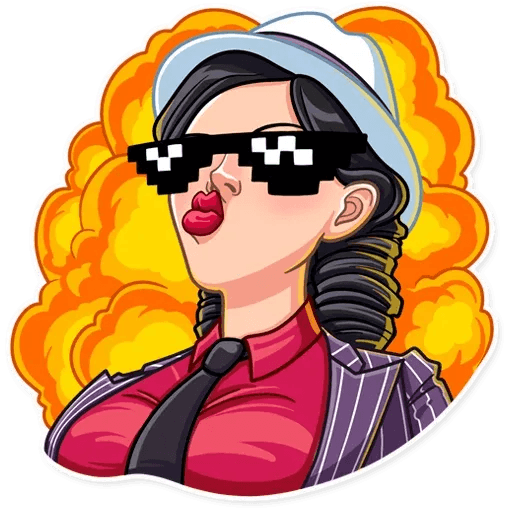 Mafia Girl - Tray Sticker
