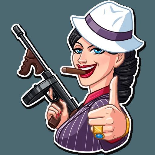 Mafia Girl - Sticker 4