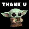 Baby Yoda Star Wars - Tray Sticker