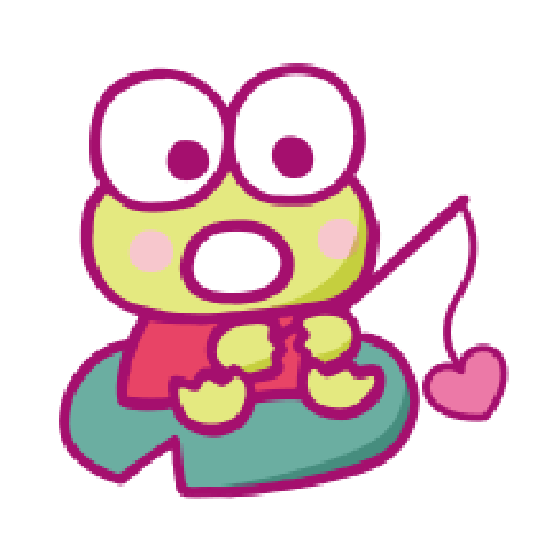 KEROKEROKEROPPI Emoji (Love) - 2 - Sticker 1