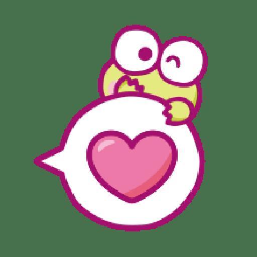 KEROKEROKEROPPI Emoji (Love) - 2 - Sticker 20
