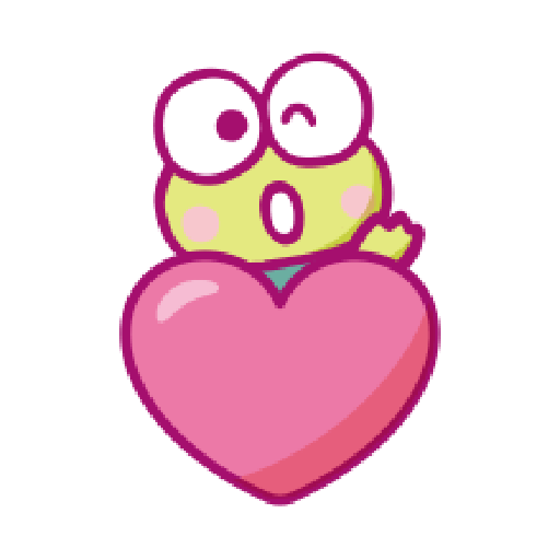KEROKEROKEROPPI Emoji (Love) - 2 - Sticker 4