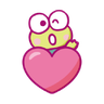 KEROKEROKEROPPI Emoji (Love) - 2 - Tray Sticker