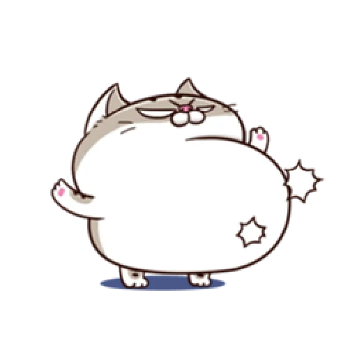 Ami fat cat7 - Sticker 18