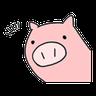 小豬 - Tray Sticker