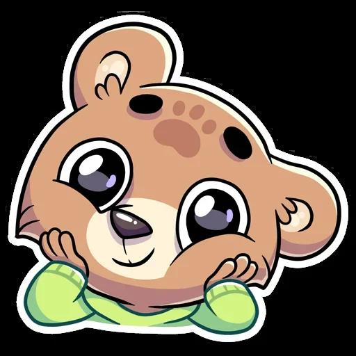 Cute Bear - Sticker 9