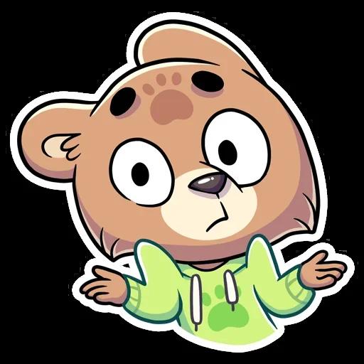 Cute Bear - Sticker 24
