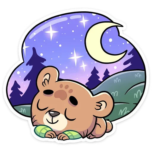 Cute Bear - Sticker 22