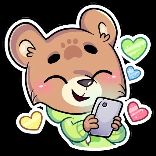 Cute Bear - Sticker 26