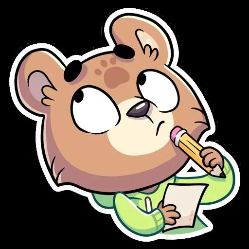 Cute Bear - Sticker 10