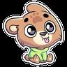 Cute Bear - Tray Sticker