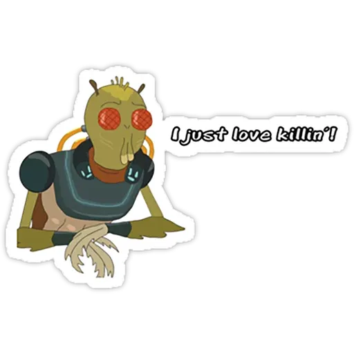 Rick & Morty IV - Sticker 3