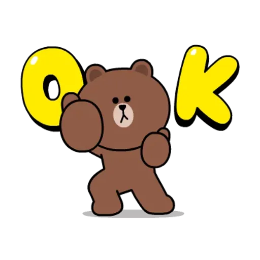 Line friends stickers 1 - Sticker 12