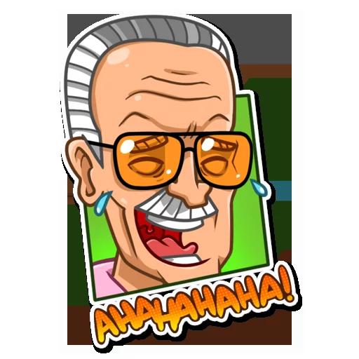 Stan Lee - Sticker 2