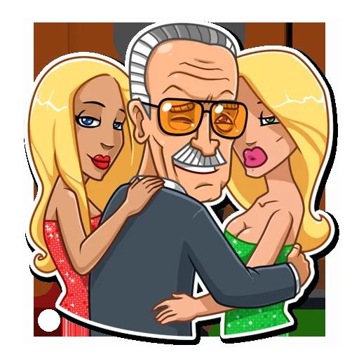Stan Lee - Sticker 25