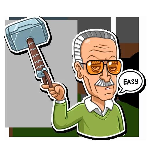 Stan Lee - Sticker 6