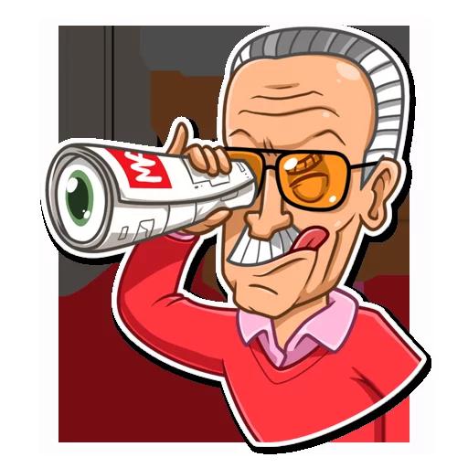Stan Lee - Sticker 12
