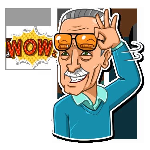 Stan Lee - Sticker 19