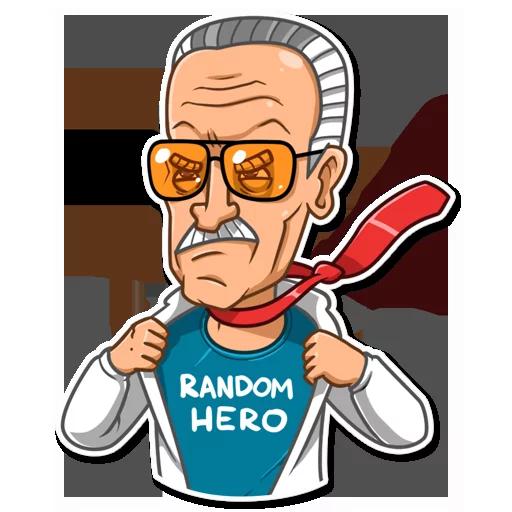 Stan Lee - Sticker 24