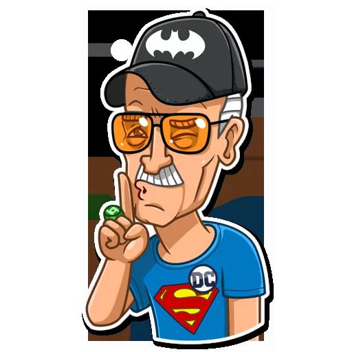 Stan Lee - Sticker 11