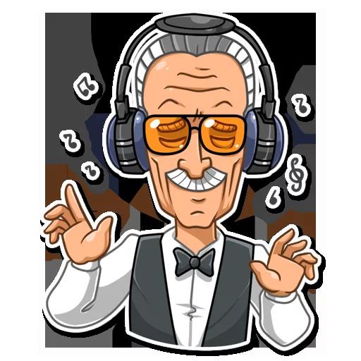 Stan Lee - Sticker 5