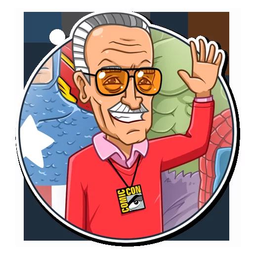 Stan Lee - Sticker 4