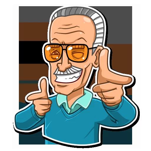 Stan Lee - Sticker 7