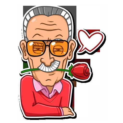 Stan Lee - Sticker 21