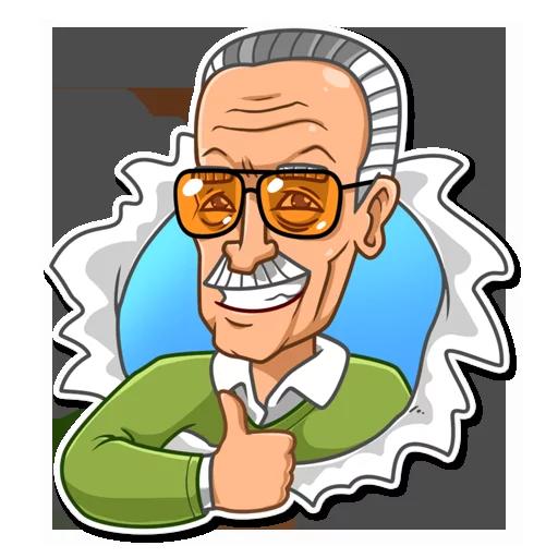 Stan Lee - Sticker 1
