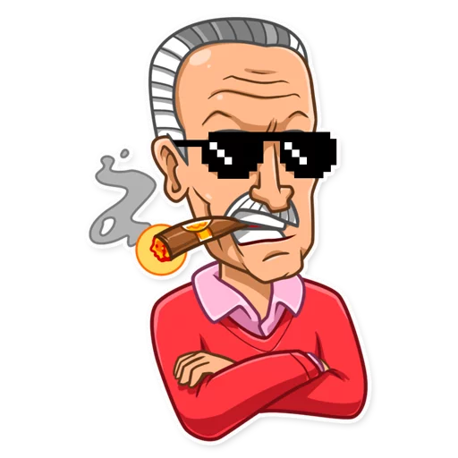 Stan Lee - Sticker 23