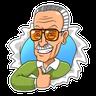 Stan Lee - Tray Sticker