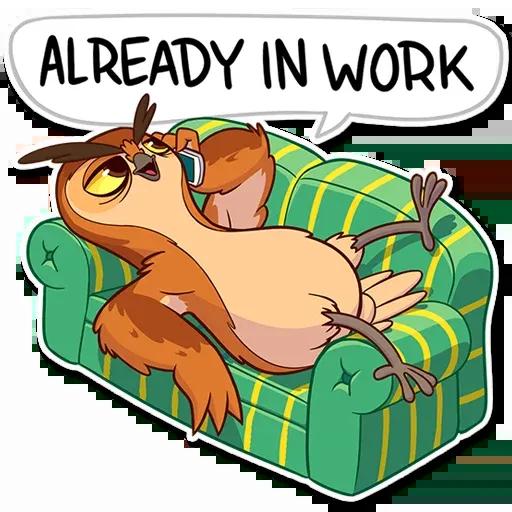 Owl - Sticker 12