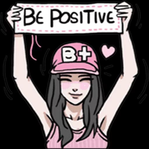 AsB Be positive girls! - Tray Sticker