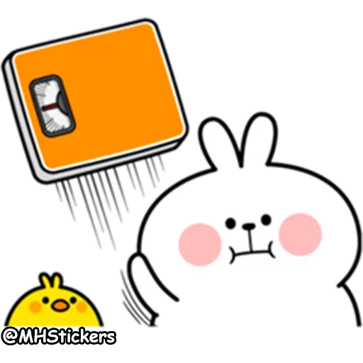 plump rabbit - Tray Sticker