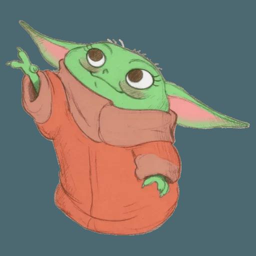 Baby Yoda by @ProjectEva - Sticker 2