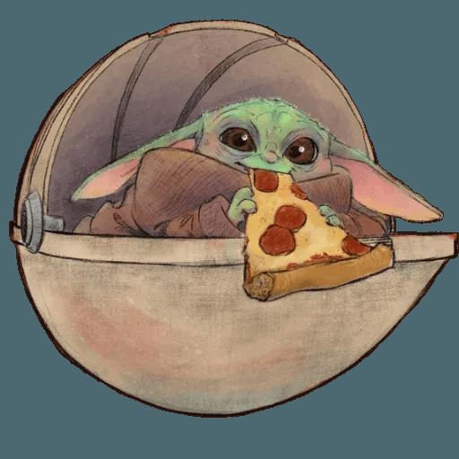 Baby Yoda by @ProjectEva - Sticker 17