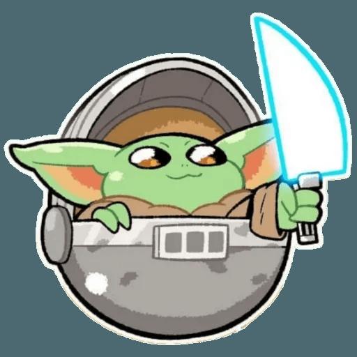 Baby Yoda by @ProjectEva - Sticker 24