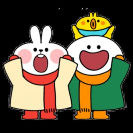 Christmas Spoiled Rabbits - Sticker 26