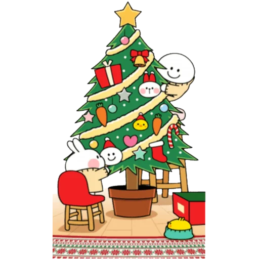 Christmas Spoiled Rabbits - Sticker 18
