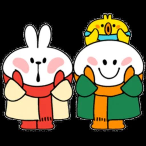Christmas Spoiled Rabbits - Sticker 20