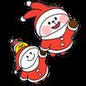 Christmas Spoiled Rabbits - Tray Sticker