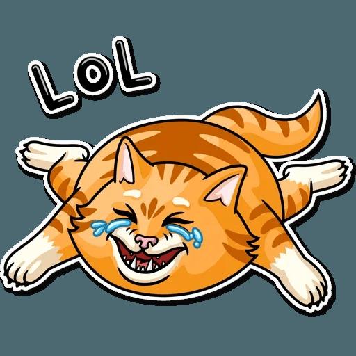 Striped Cat - Sticker 2