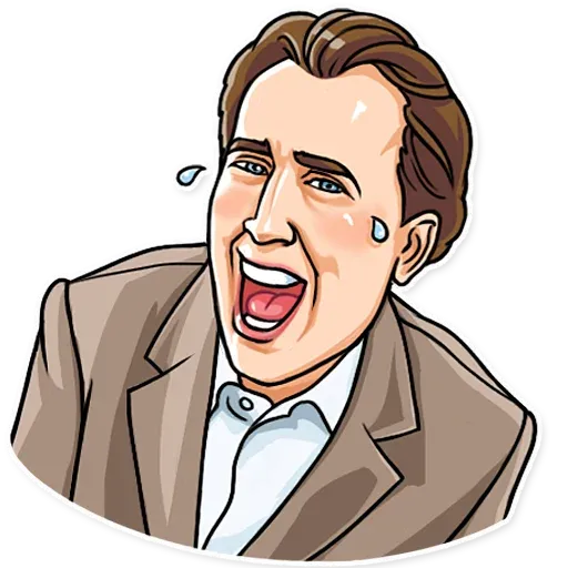 Nicolas Cage - Sticker 1