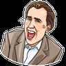 Nicolas Cage - Tray Sticker