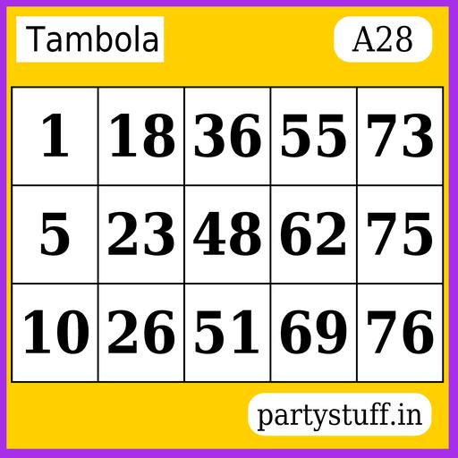 PS Tambola Tickets - Sticker 28